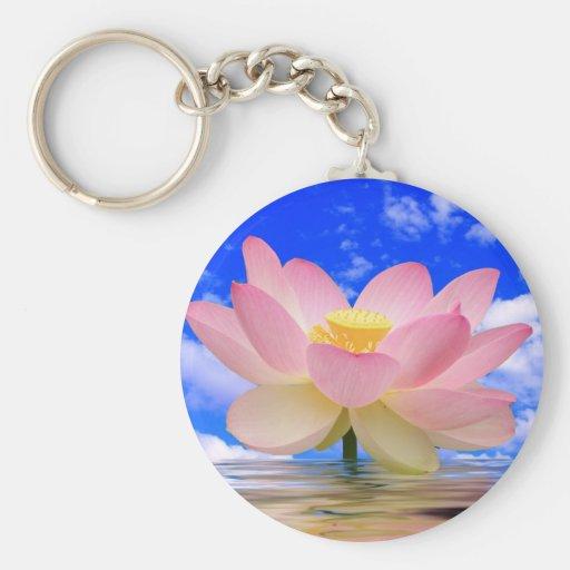Flor de Lotus llevada en agua Llaveros Personalizados