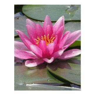 Flor de Lotus Membrete A Diseño