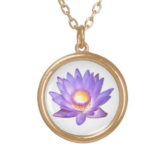 Flor de Lotus púrpura Colgante Personalizado