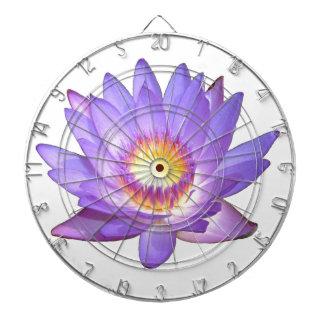 Flor de Lotus púrpura Tablero Dardos