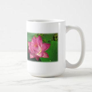 Flor de Lotus púrpura hermosa en la plena Taza De Café