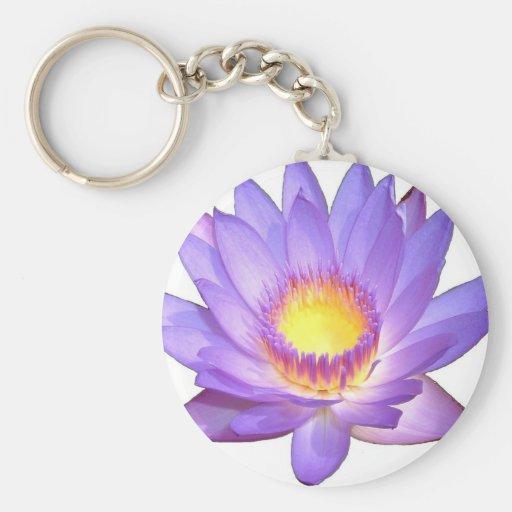 Flor de Lotus púrpura Llavero Personalizado