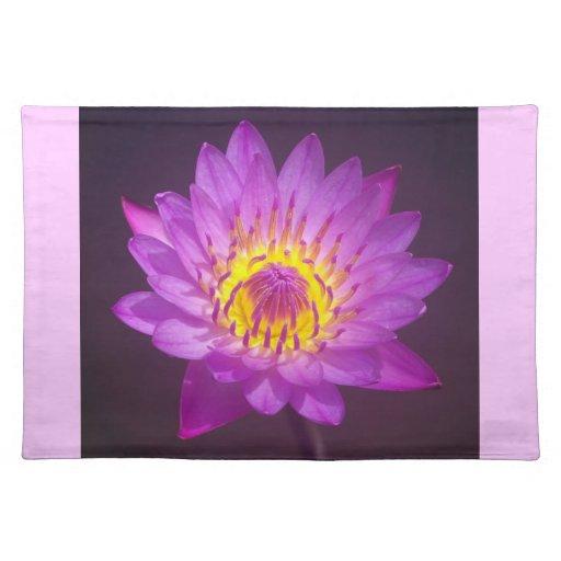 Flor de Lotus púrpura Manteles Individuales