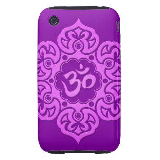 Flor de Lotus púrpura OM Funda Though Para iPhone 3