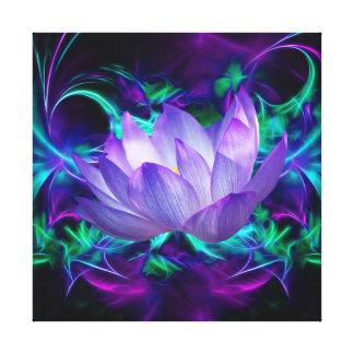 Flor de Lotus púrpura y su significado Lona Envuelta Para Galerias