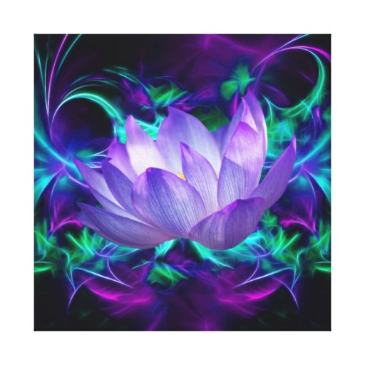 Flor de Lotus púrpura y su significado Impresión En Lona