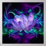 Flor de Lotus púrpura y su significado Póster