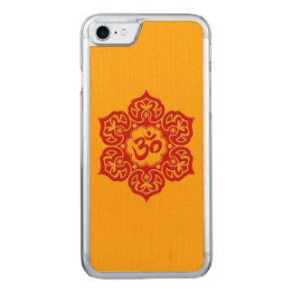 Flor de Lotus roja OM en amarillo Funda Para iPhone 7