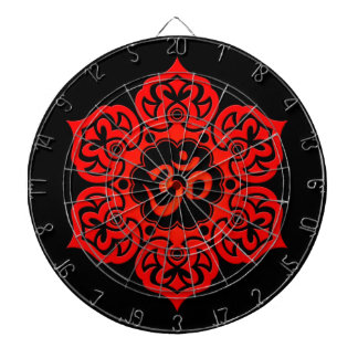 Flor de Lotus roja OM en negro