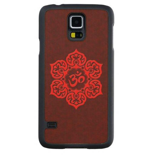 Flor de Lotus roja OM Funda De Galaxy S5 Slim Arce