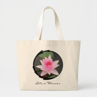 Flor de Lotus rosada Bolsa Tela Grande