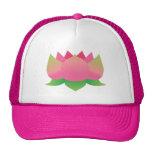 Flor de Lotus rosada Gorro De Camionero