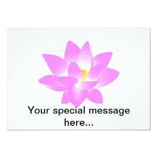 """Flor de Lotus rosada Invitación 5"""" X 7"""""""