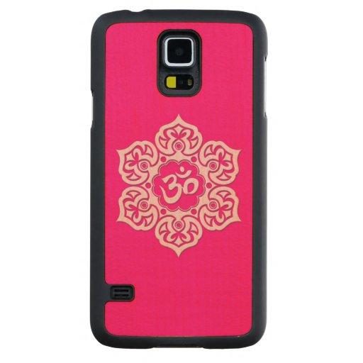 Flor de Lotus rosada OM Funda De Galaxy S5 Slim Arce