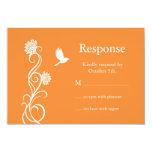 Flor de Lotus RSVP (naranja brillante) Invitación 8,9 X 12,7 Cm
