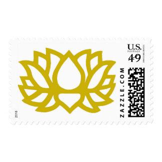 Flor de Lotus Sello Postal