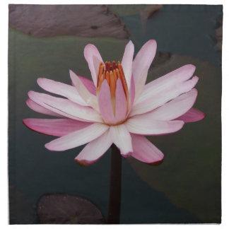Flor de Lotus Servilleta Imprimida