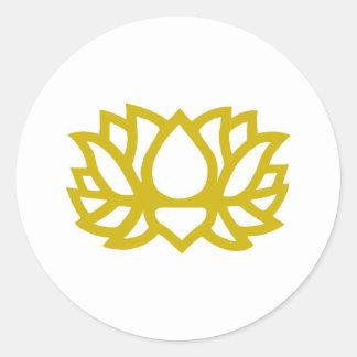 Flor de Lotus Etiqueta Redonda