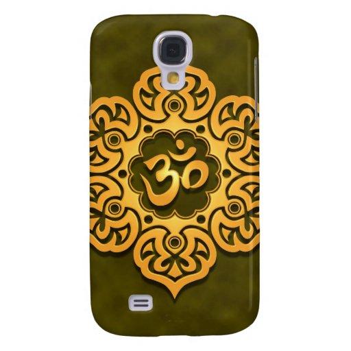 Flor de Lotus verde de oro OM