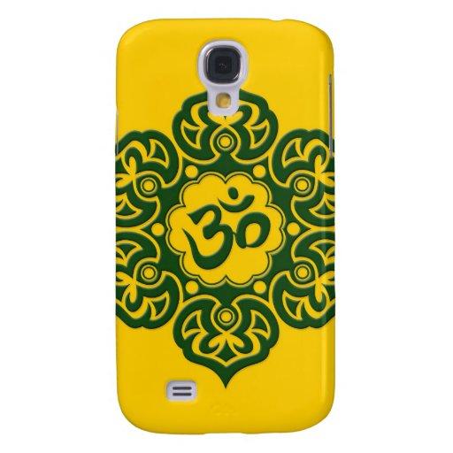 Flor de Lotus verde OM en amarillo
