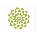 Flor de Lotus verde Postal