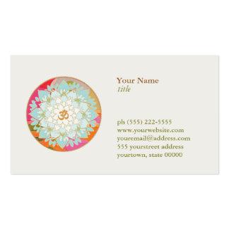 Flor de Lotus y salud y salud del símbolo de OM Tarjeta De Negocio