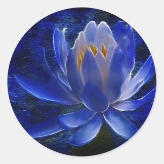 Flor de Lotus y su significado Pegatinas Redondas