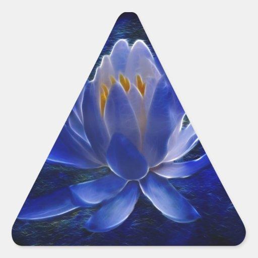 Flor de Lotus y su significado Pegatina Triangular