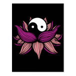 Flor de Lotus y Yin Yang Postales