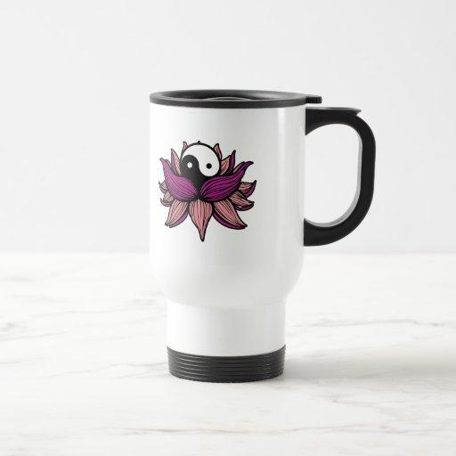 Flor de Lotus y Yin Yang Taza
