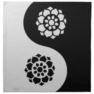 Flor de Lotus Yin Yang Servilleta Imprimida