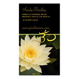 Flor de Lotus, yoga de OM, curadores Plantillas De Tarjeta De Negocio
