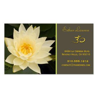 Flor de Lotus, yoga de OM, curadores Tarjetas De Visita