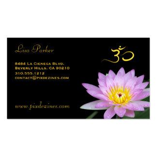 Flor de Lotus, yoga de OM, curadores Tarjeta De Visita