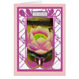 Flor de Loyus, cada buen deseo Tarjeta De Felicitación