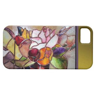 Flor de lujo de cristal Barely There del arte iPhone 5 Fundas