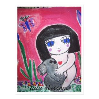 Flor de Lulu Tarjetas Postales