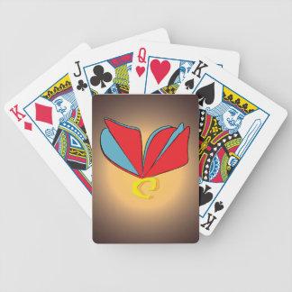 Flor de mariposa barajas de cartas