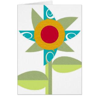 Flor de molinillo de viento tarjeta pequeña