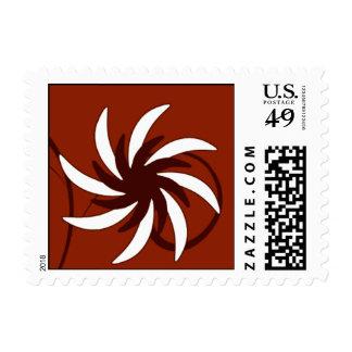 Flor de molinillo de viento timbre postal
