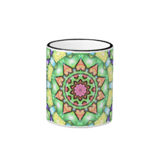 Flor de neón taza de dos colores