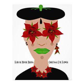 Flor de Noche Buena, Christmas Eve Flower Letterhead