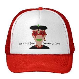 Flor de Noche Buena, Christmas Eve Flower Trucker Hat