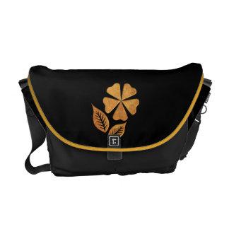 Flor de oro bolsa de mensajeria