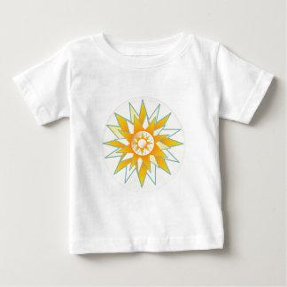 Flor de oro del brillo de Sun Playera De Bebé