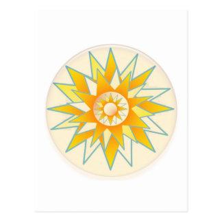 Flor de oro del brillo de Sun Tarjeta Postal