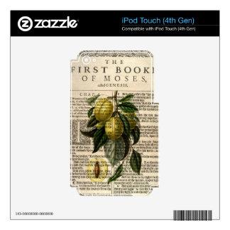 Flor de oro del ciruelo de Esperen Calcomanía Para iPod Touch 4G