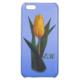 Flor de oro del tulipán, monograma