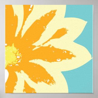 Flor de oro póster