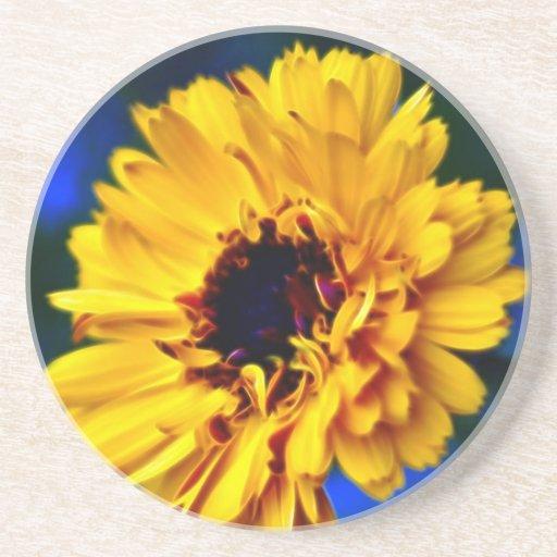 Flor de oro y significado de la maravilla posavasos diseño